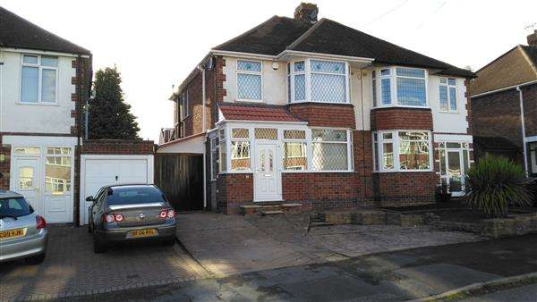 3 Bedrooms Semi Detached House for sale in Frankton Avenue, Stivichall/Styvechale, Coventry
