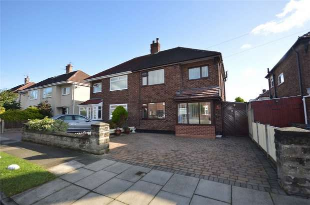 3 Bedrooms Semi Detached House for sale in Teesdale Road, Bebington, Merseyside