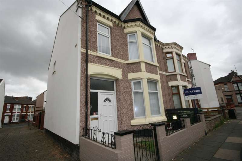 3 Bedrooms End Of Terrace House for sale in Edith Road, Wallasey, CH44 6LG