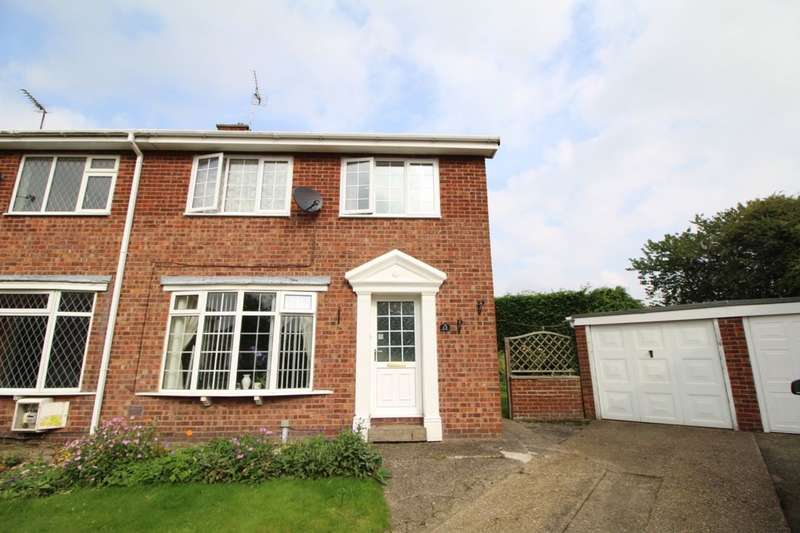 3 Bedrooms Semi Detached House for sale in Willow Court, Cranswick, Driffield, YO25