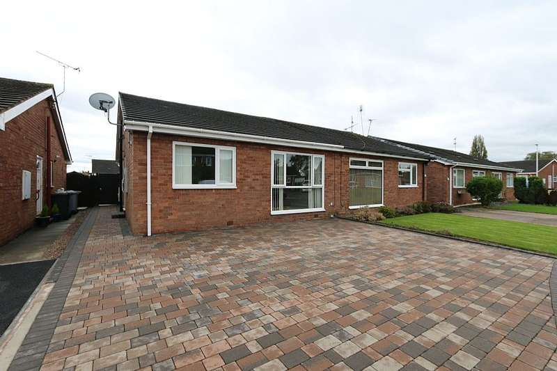 2 Bedrooms Semi Detached Bungalow for sale in Hazel Grove, Crewe, Cheshire, CW1 4JL
