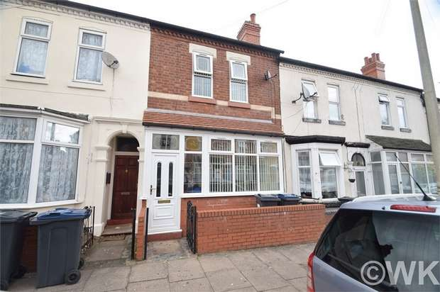 3 Bedrooms Terraced House for sale in Newcombe Road, BIRMINGHAM, West Midlands