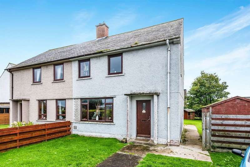 3 Bedrooms Semi Detached House for sale in Carrol Crescent, Brora, KW9