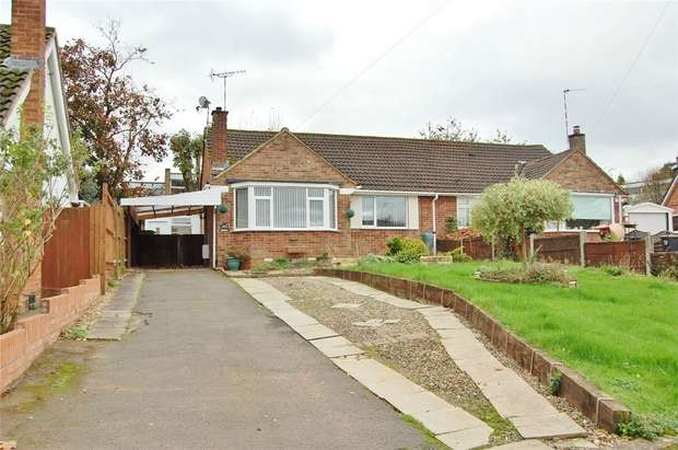 2 Bedrooms Semi Detached Bungalow for sale in Tennyson Avenue, RUGBY, Warwickshire