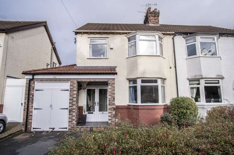 3 Bedrooms Semi Detached House for sale in Holmefield Avenue, Liverpool, L19 3PL