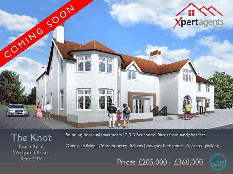 2 Bedrooms Apartment Flat for sale in The Knot, Beach Road, Westgate-on-sea