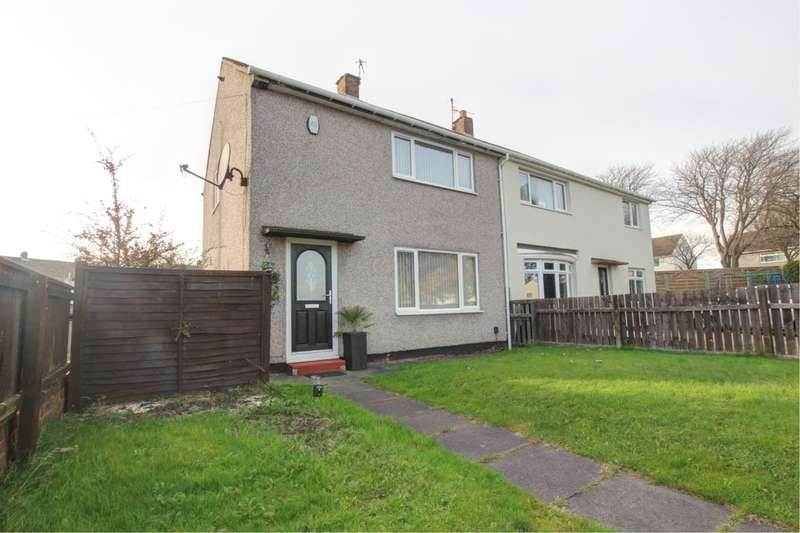 2 Bedrooms Semi Detached House for sale in Buttermere, Gateshead, NE10