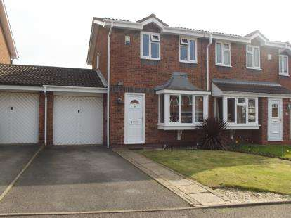 2 Bedrooms Semi Detached House for sale in Byland, Glascote, Tamworth, Staffordshire
