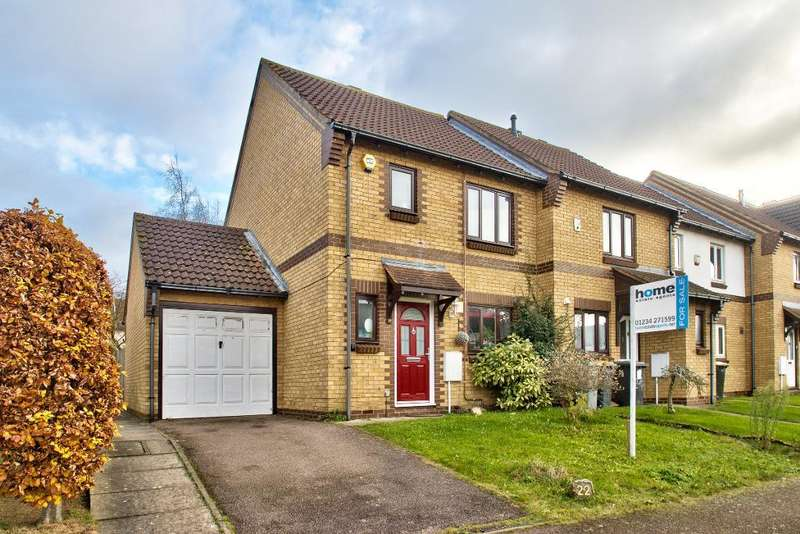 3 Bedrooms End Of Terrace House for sale in Clover Avenue, Bedford, Bedfordshire, MK41 0TZ