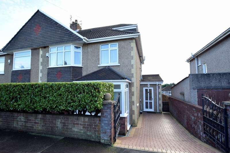 3 Bedrooms Semi Detached House for sale in 27 Parcau Avenue, Bridgend, Bridgend County Borough, CF31 4SZ.