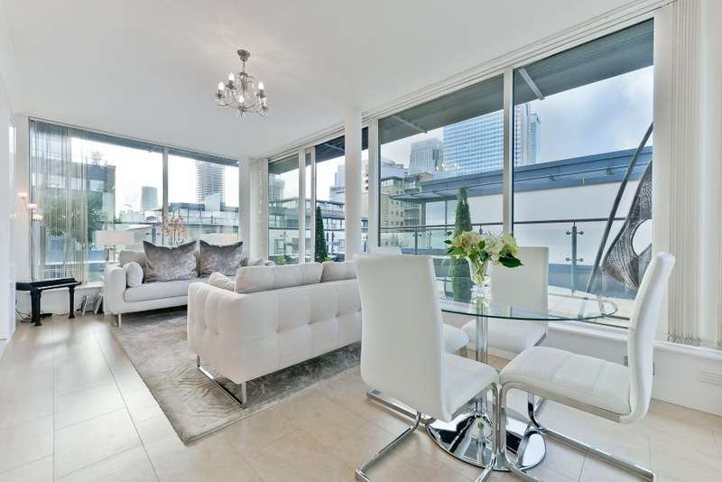 2 Bedrooms Flat for sale in Boardwalk Place, Canary Wharf, E14