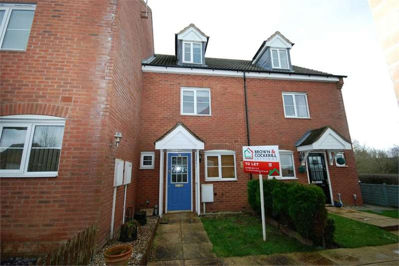 3 Bedrooms Terraced House for rent in Creswell Place, Cawston, Rugby, Warwickshire