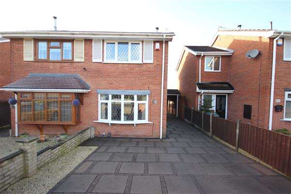 2 Bedrooms Semi Detached House for sale in Galsworthy Road, Saxonfields, Stoke-on-Trent