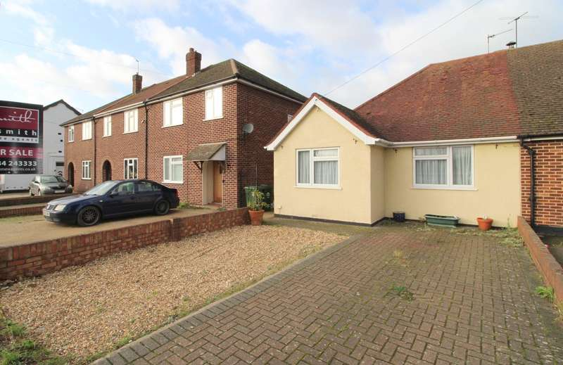 2 Bedrooms Semi Detached Bungalow for sale in Feltham Road, Ashford, TW15