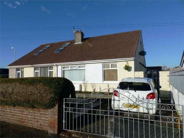 2 Bedrooms Semi Detached Bungalow for sale in 6 Tennyson Drive, Cefn Glas, Bridgend, Mid Glamorgan