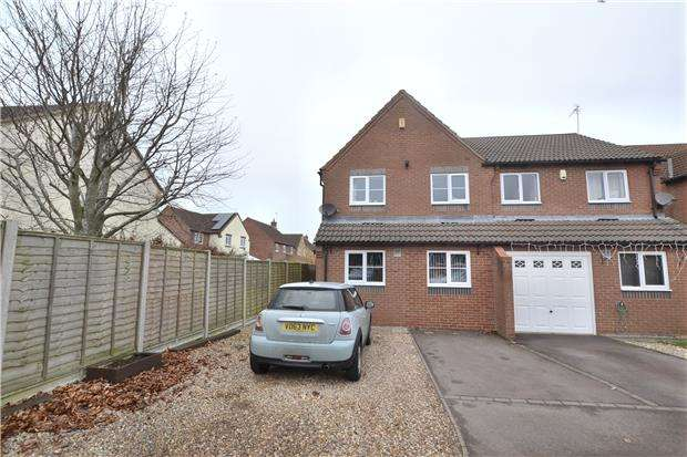 3 Bedrooms Semi Detached House for sale in Pendock Close, Quedgeley, GL2 4GL