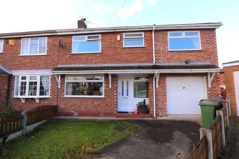 4 Bedrooms Semi Detached House for sale in Warren Close, Denton, Manchester, M34