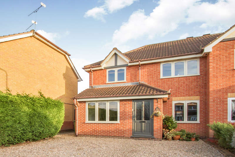3 Bedrooms Semi Detached House for sale in Leveret Drive, Whetstone, LEICESTER, LE8