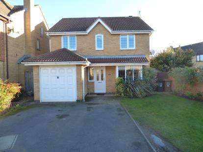 4 Bedrooms Detached House for sale in Harris Close, Wootton, Northampton, Northamptonshire