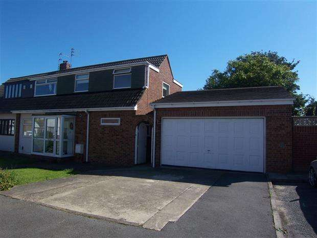 3 Bedrooms Semi Detached House for sale in DORCHESTER DRIVE, HART STATION, HARTLEPOOL