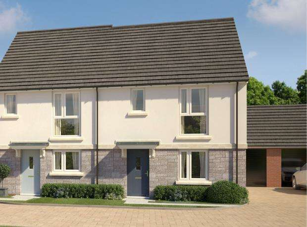 3 Bedrooms Semi Detached House for sale in Godrevy Parc, Hayle, Cornwall