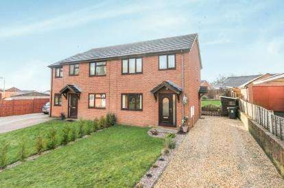 3 Bedrooms Semi Detached House for sale in Pont Yr Afon, Penycae, Wrexham, Wrecsam, LL14