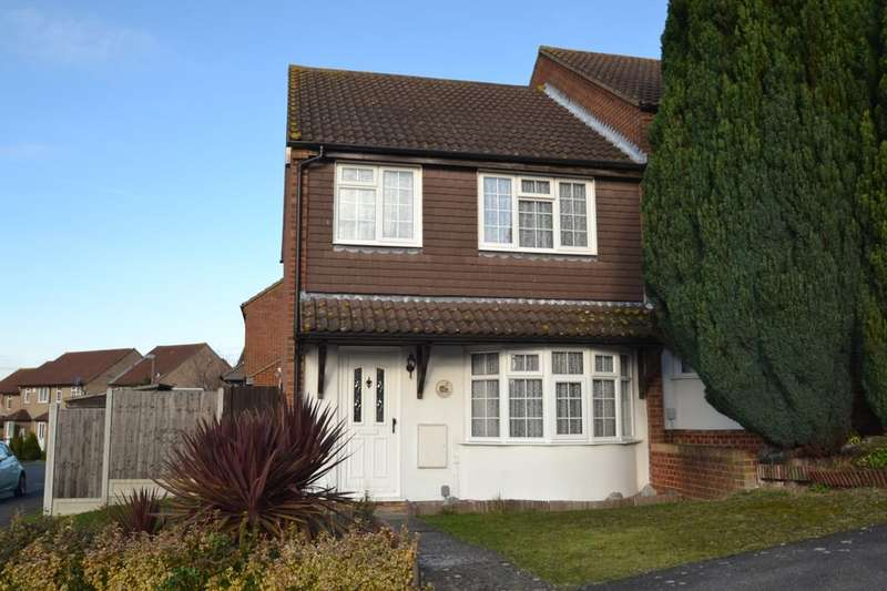 3 Bedrooms Semi Detached House for sale in Christie Close, Walderslade, Chatham, ME5