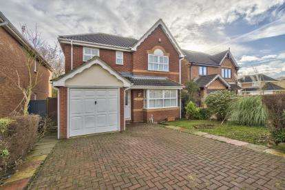 4 Bedrooms Detached House for sale in Knipe Close, Stukeley Meadows, Huntingdon, Cambs