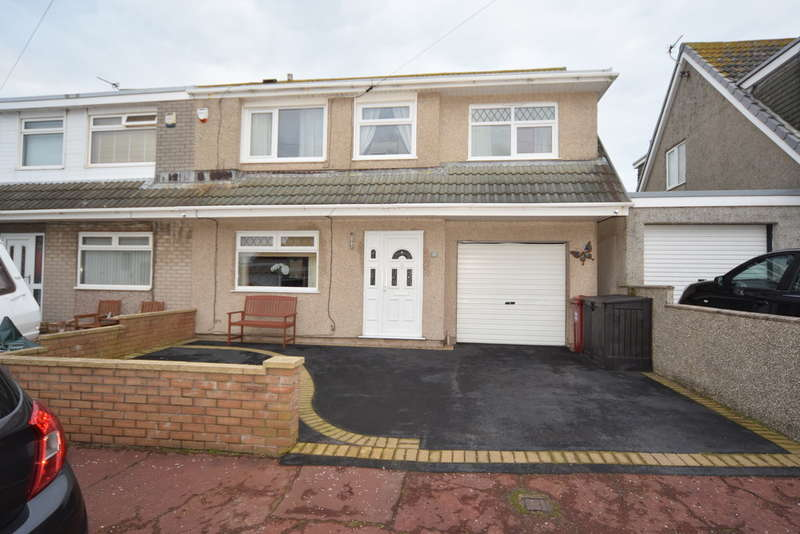 4 Bedrooms Semi Detached House for sale in Andreas Avenue, Barrow-in-Furness, Cumbria, LA14 3JN