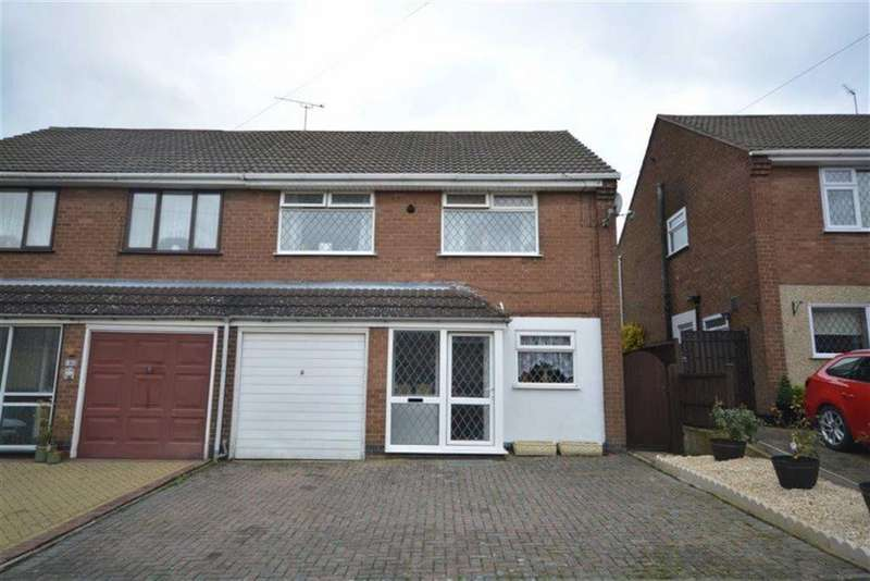 4 Bedrooms Semi Detached House for sale in Larkin Close, Bulkington