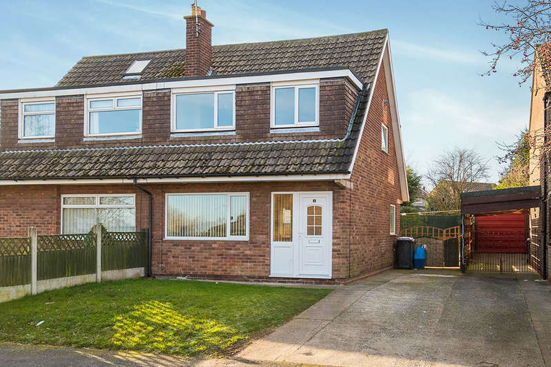 3 Bedrooms Semi Detached House for sale in Buttermere Close, North Anston, Sheffield, S25