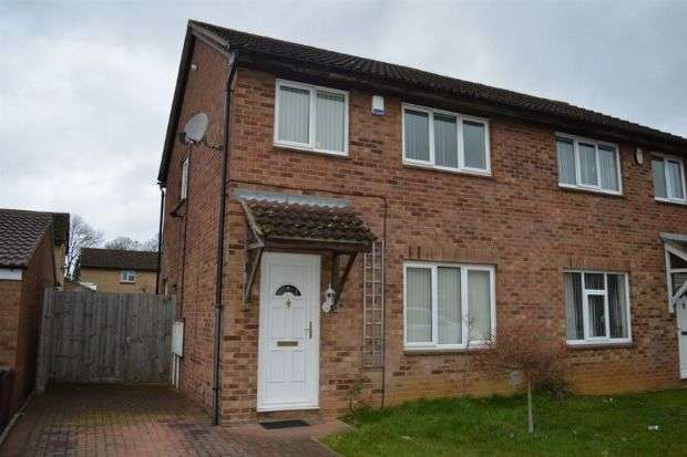 3 Bedrooms Semi Detached House for sale in Beaumont Drive, Cherry Lodge, Northampton NN3 8PS