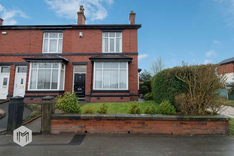 3 Bedrooms End Of Terrace House for sale in Higher Ainsworth Road, Radcliffe, Manchester, M26