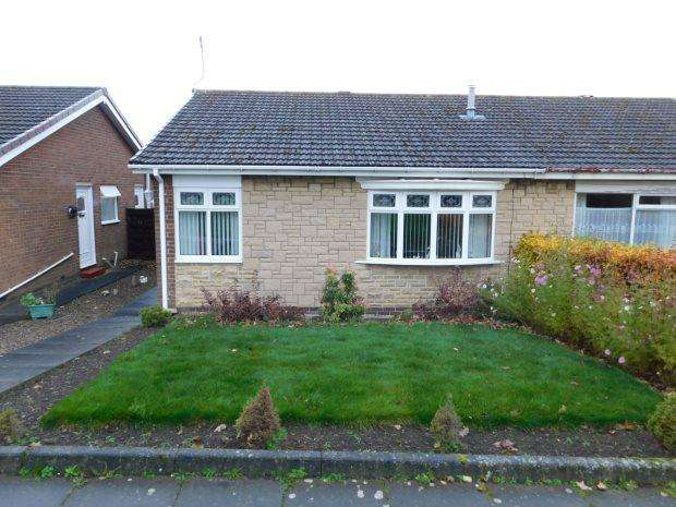 2 Bedrooms Semi Detached Bungalow for sale in WORCESTER ROAD, NEWTON HALL, DURHAM CITY