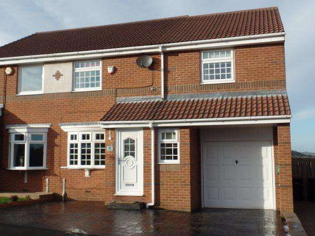4 Bedrooms Semi Detached House for sale in PENSHAW VIEW, SACRISTON, DURHAM CITY : VILLAGES WEST OF