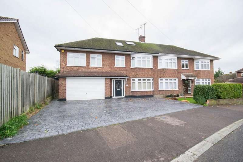 5 Bedrooms Semi Detached House for sale in Chelmer Drive, Hutton, Brentwood, Essex, CM13