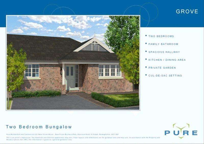 2 Bedrooms Semi Detached Bungalow for sale in Plot 25, Upper Denbigh Road, St. Asaph