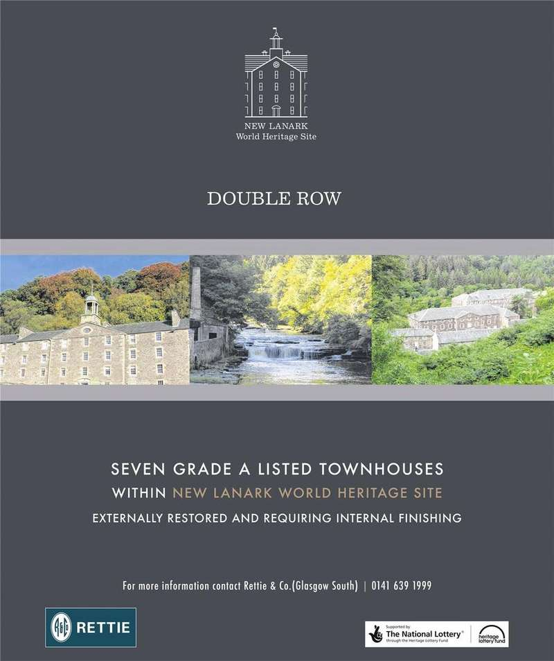 Terraced House for sale in Plot 1 Double Row Town Houses, New Lanark Road, Lanark, Lanarkshire