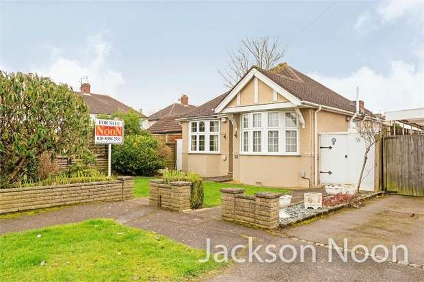 2 Bedrooms Detached Bungalow for sale in Devon Way, West Ewell