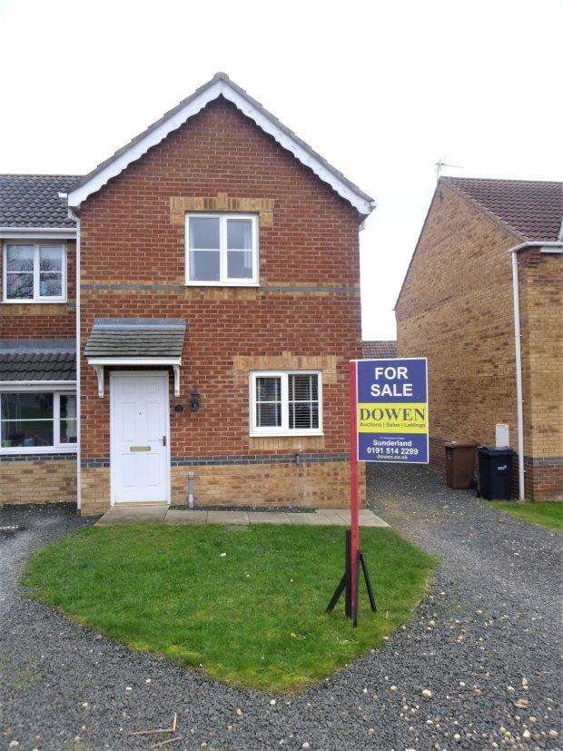 2 Bedrooms Semi Detached House for sale in HEVINGHAM CLOSE, HAVELOCK PARK, SUNDERLAND SOUTH