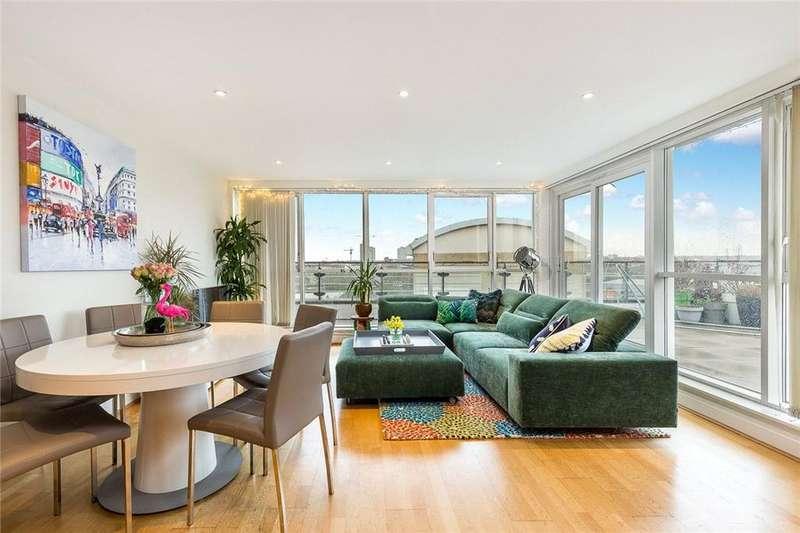 3 Bedrooms Flat for sale in Omega Building, Riverside West, Smugglers Way, London, SW18