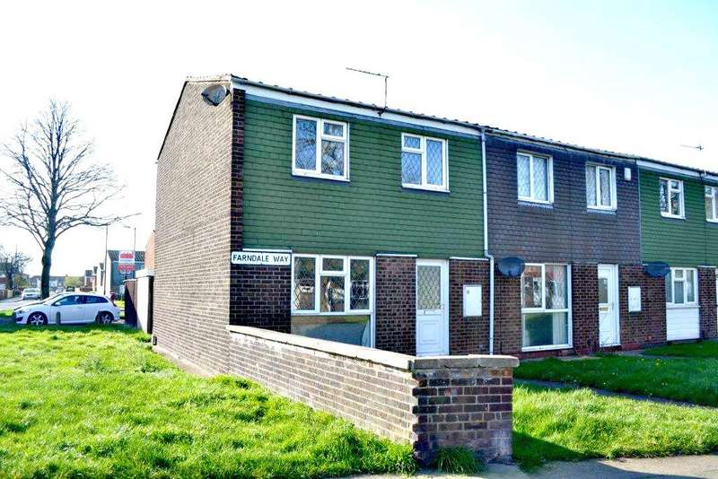 2 Bedrooms End Of Terrace House for sale in Farndale Way, Grimsby, North East Lincolnshire, DN31