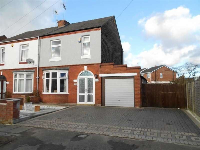 3 Bedrooms Semi Detached House for sale in Singleton Avenue, Crewe, Cheshire
