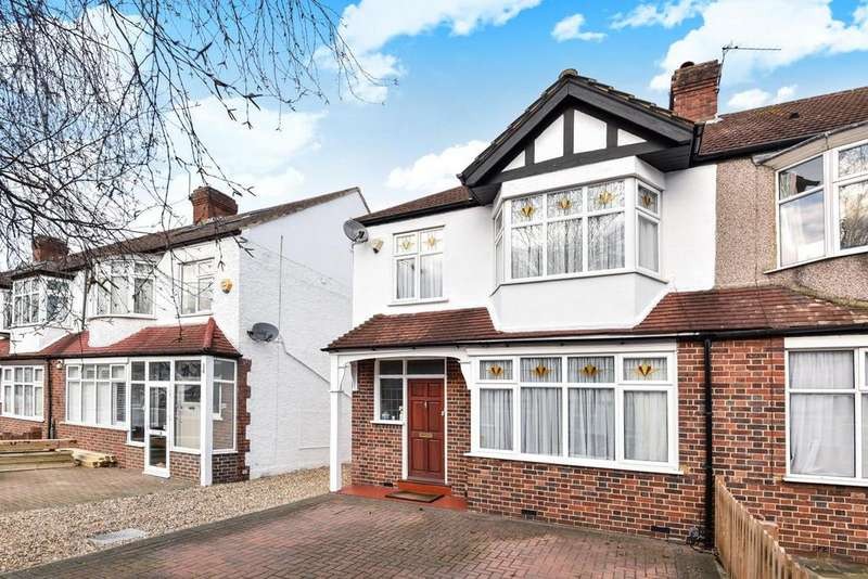3 Bedrooms End Of Terrace House for sale in Westway, Raynes Park