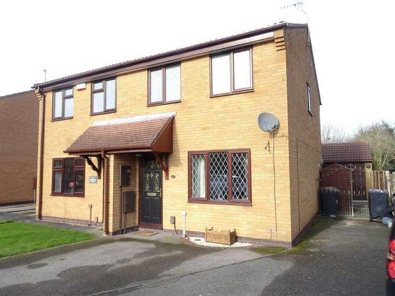 3 Bedrooms Semi Detached House for sale in Newquay Close, Hinckley
