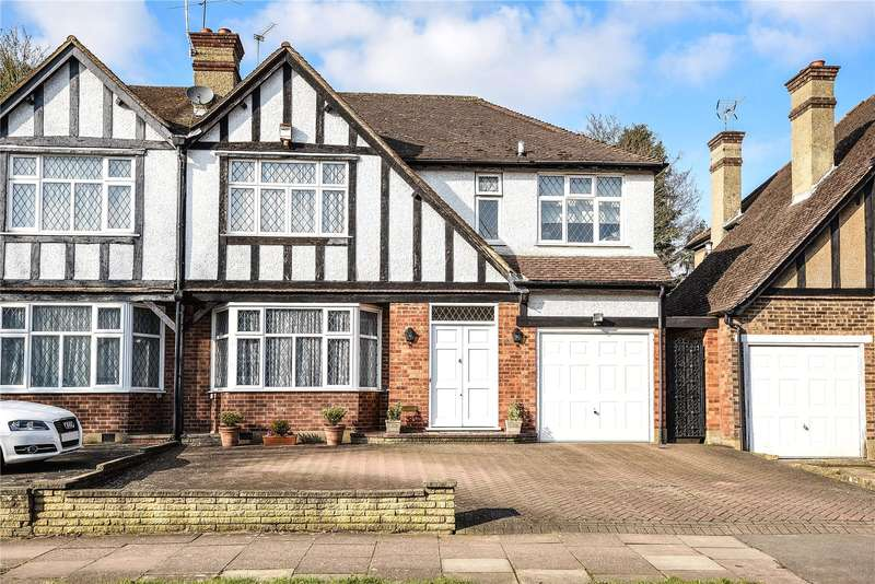 4 Bedrooms Semi Detached House for sale in Pangbourne Drive, Stanmore, Middlesex, HA7
