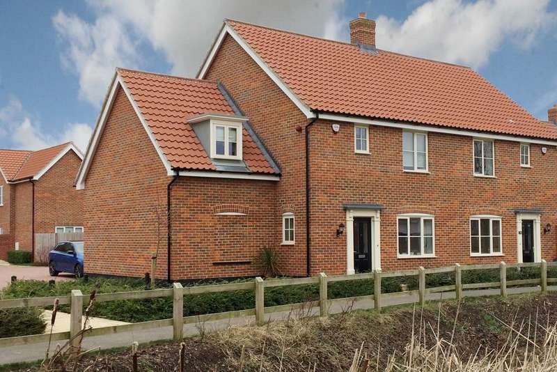 3 Bedrooms Semi Detached House for sale in Watsons Way, Barrow, Bury St Edmunds IP29