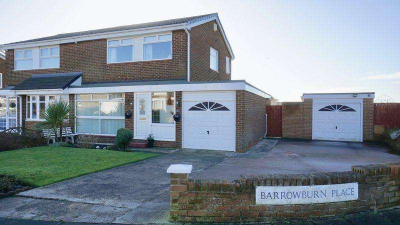 3 Bedrooms Semi Detached House for sale in Barrowburn Place Seghill
