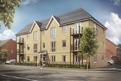 2 Bedrooms Flat for sale in OAKBROOK San Andres Drive, Newton Leys, Bletchley, Milton Keynes