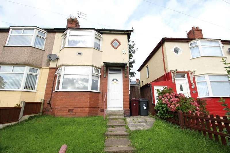 3 Bedrooms Semi Detached House for sale in Wood Lane, Huyton, Liverpool, Merseyside, L36